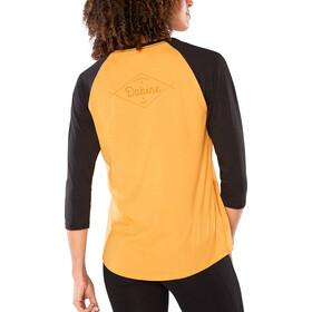 Dakine T-shirt Raglan Manches 3/4 Femme, golden glow